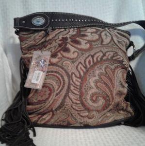 NWT Montana West Tapestry Fringed Shoulder Bag